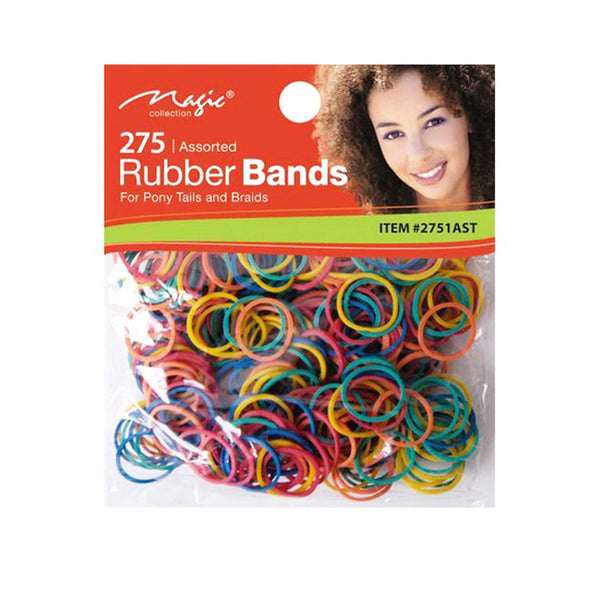 Magic 275 Colourful Rubber Bands For Hair - AQ Online