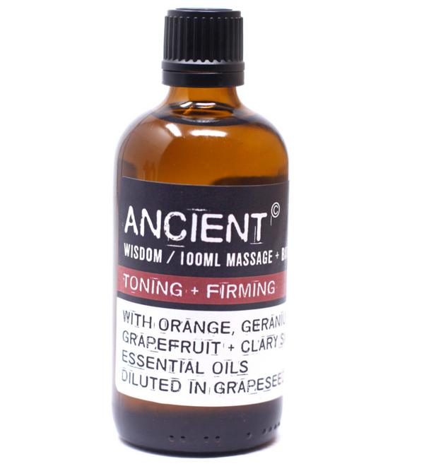 Massage Oil for Toning & Firming in Orange Oil 100ml - aqnline