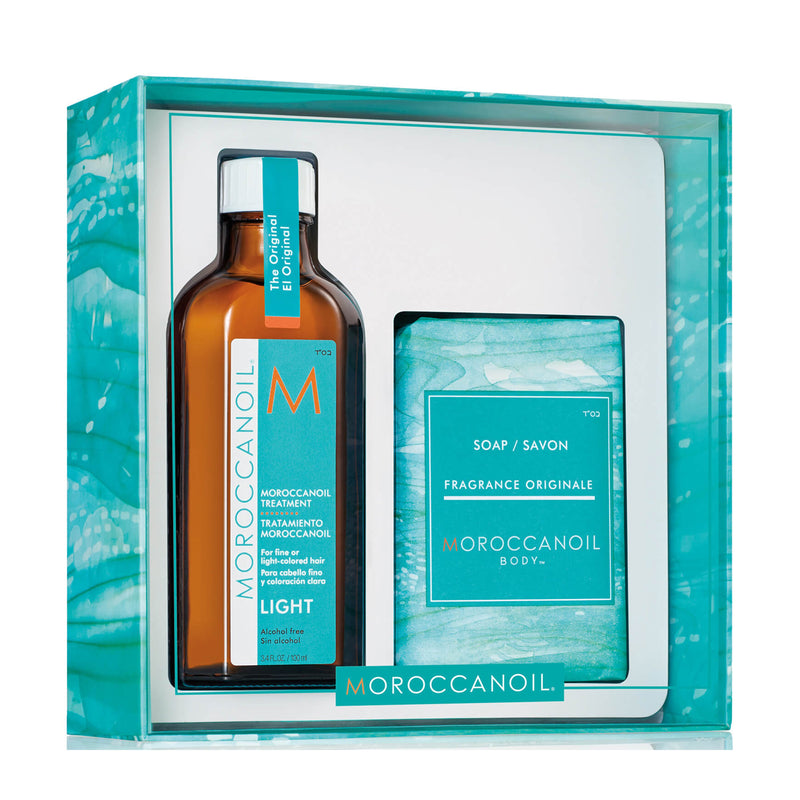 Moroccanoil Light Oil Treatment with Soap Gift Set - AQ Online