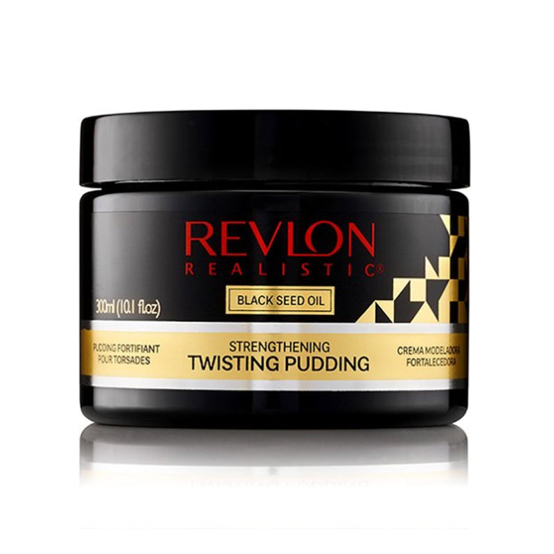 Revlon Realistic Black Seed Oil Strengthening Twisting Pudding Flake Free 10oz- AQ Online