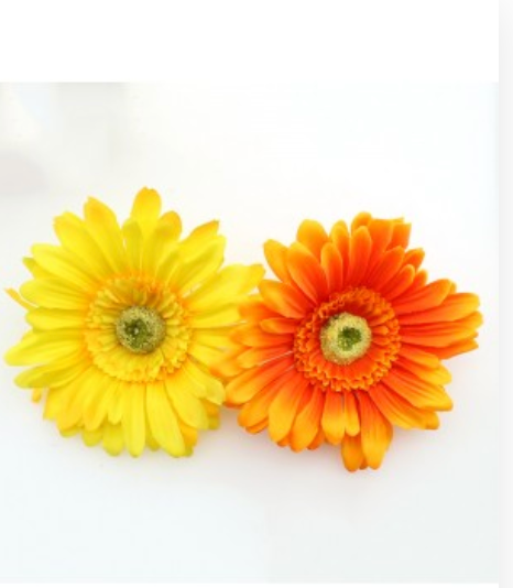Large Sunflower On Clip & Safety Pin - Assorted Colours - aqnline