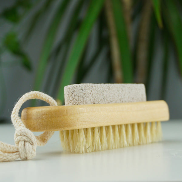 Scrub & Scrape - Brush & Stone For Feet & Body