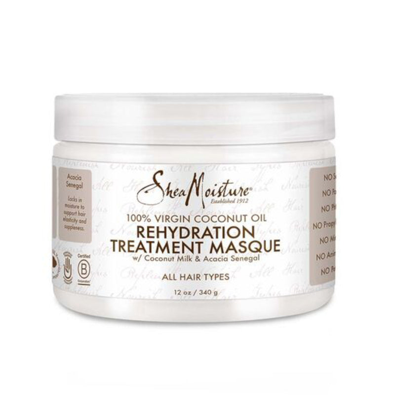 Shea Moisture 100% Percent Virgin Coconut Oil Rehydration Treatment Masque 340 g- AQ Online