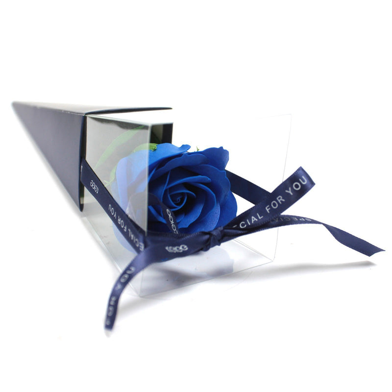 Single Blue Rose Soap Flower - Afroquarter