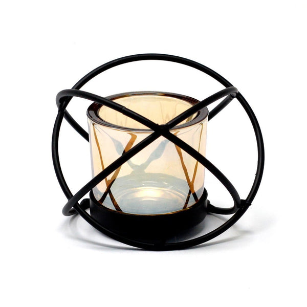 Single Candle Holder Ball Iron Votive Centrepiece- Afroquarter