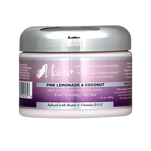 The Mane Choice Pink Lemonade & Coconut Curl Boasting Sherbet (12oz) - aqnline