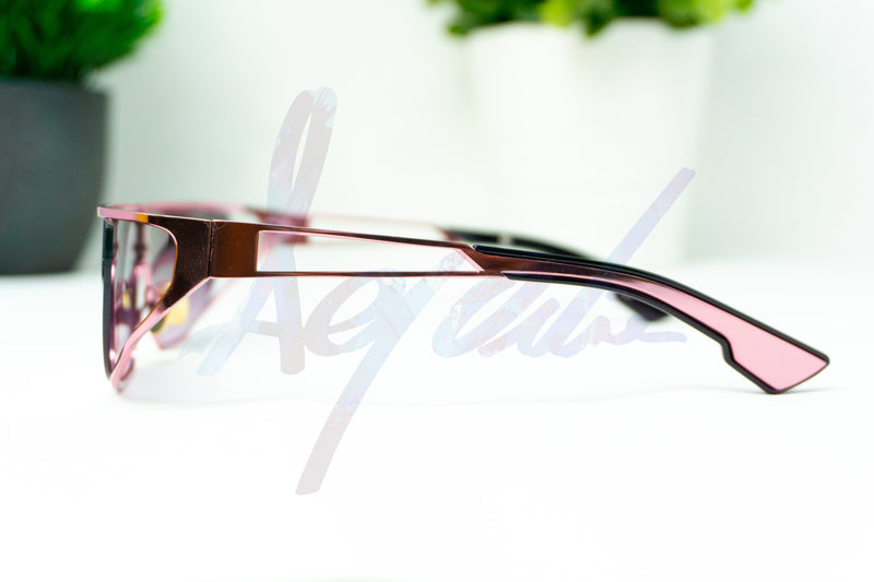 """Conspicuous"" Visor Style Tinted Lens Metal Sunglasses - Afroquarter"