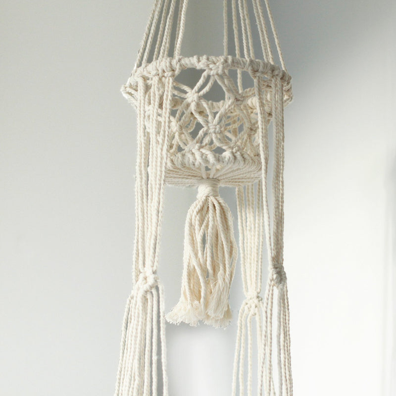 Double Holder Beaded Macrame Pot Holder - AQ Online