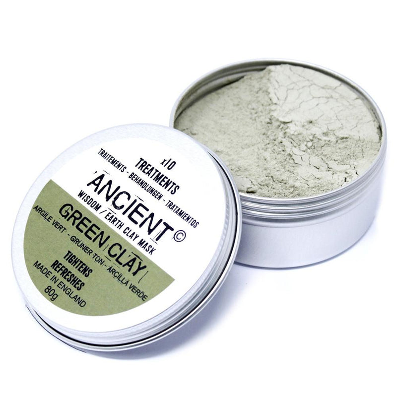 Green Clay Face Mask Tightens and Refreshes 80g - AQ Online