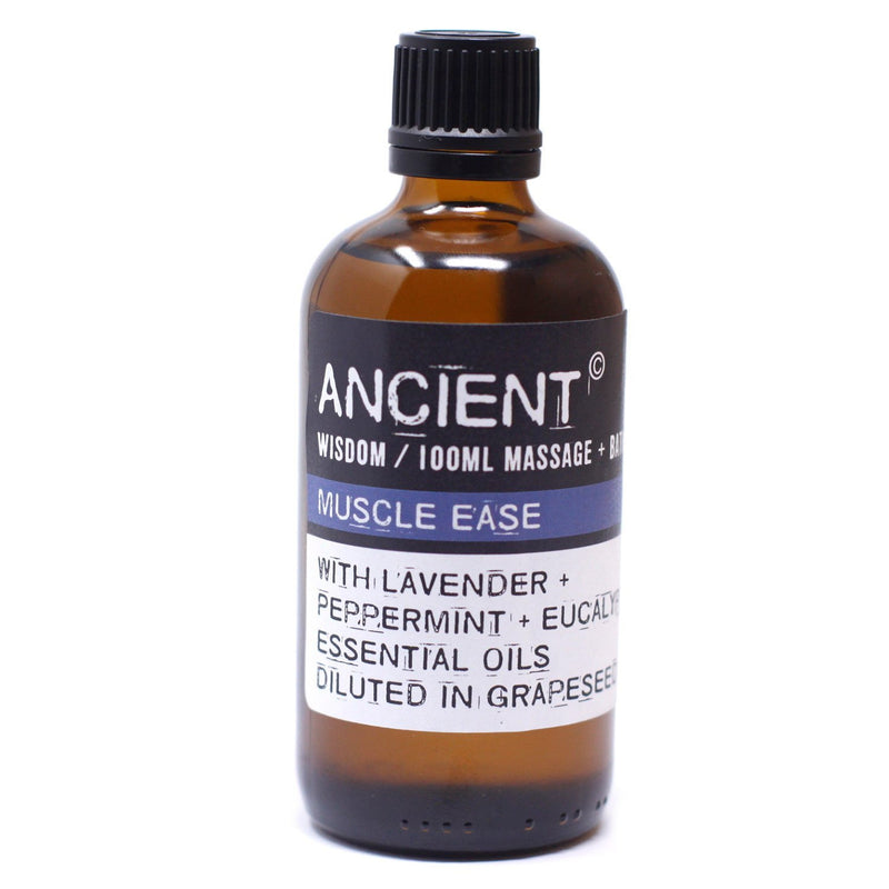 Massage Oil for Muscle Ease in Lavender & Peppermint 100ml - AQ Online