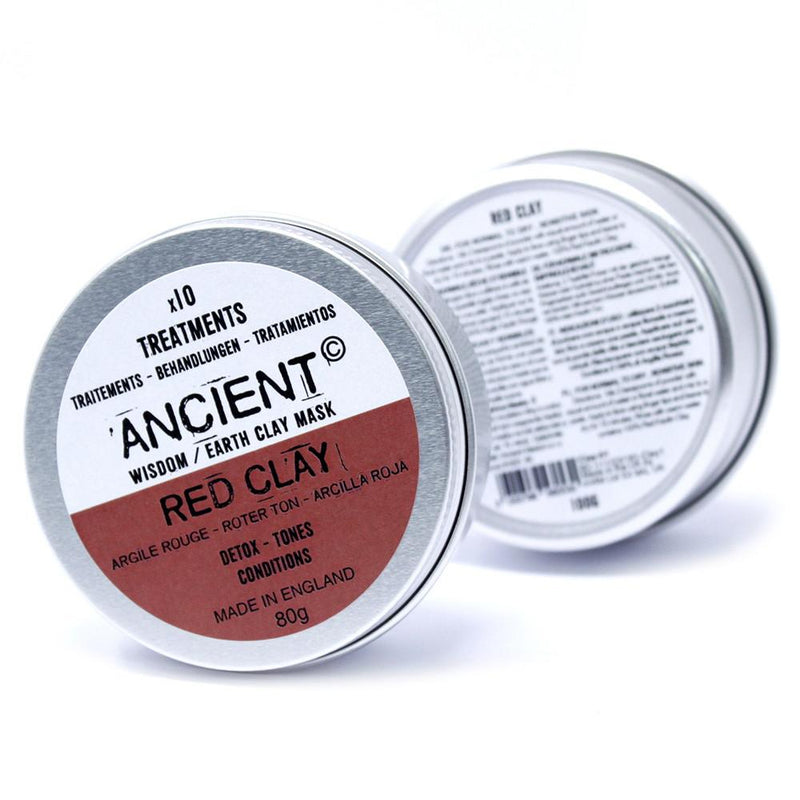 Red Clay Face Mask For Detox, Toning and Conditioning 80g - AQ Online