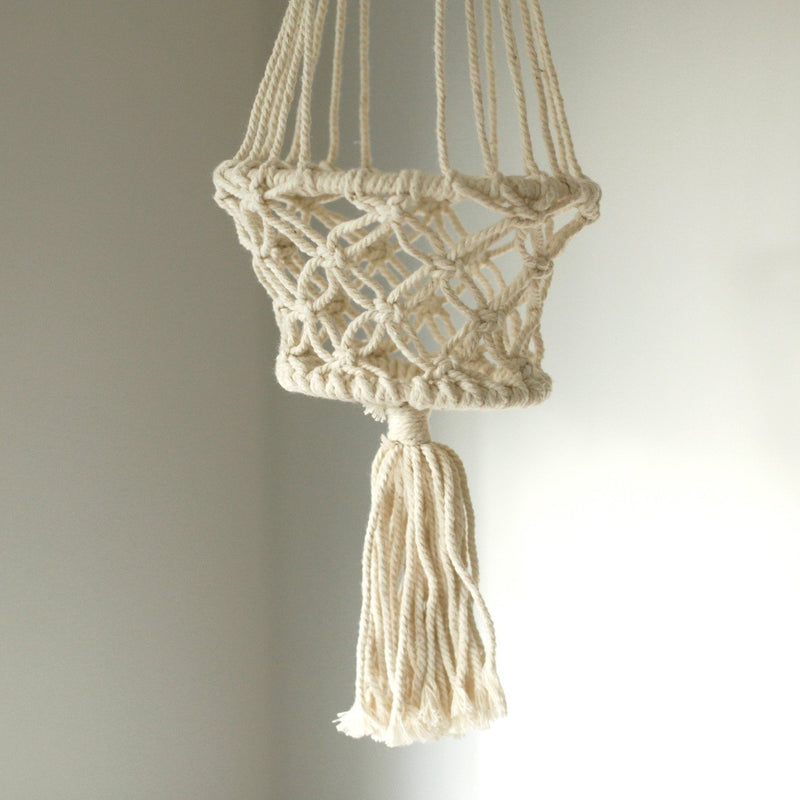 Small Single Beaded Macrame Pot Holder - AQ Online