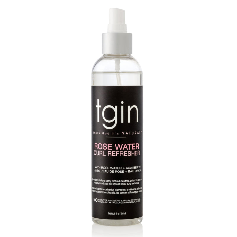 tgin Rose Water Curl Refresher 8 oz - AQ Online