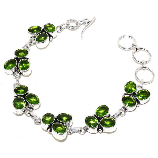 Peridot Gemstone Handmade Ethnic Jewelry Bracelet 7-8 Inches RB100