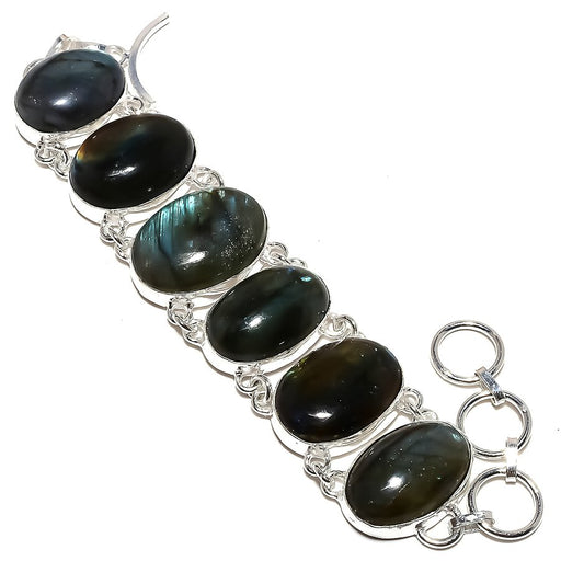 Labradorite Gemstone Handmade Jewelry Bracelet 7-8 Inches RB1019