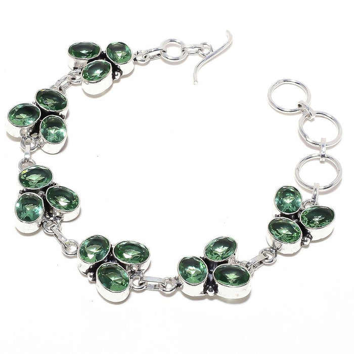 Peridot Gemstone Handmade Ethnic Jewelry Bracelet 7-8 Inches RB103