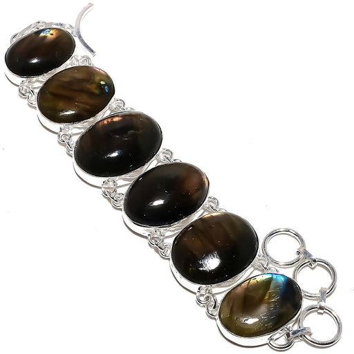 Labradorite Gemstone Handmade Jewelry Bracelet 7-8 Inches RB1040