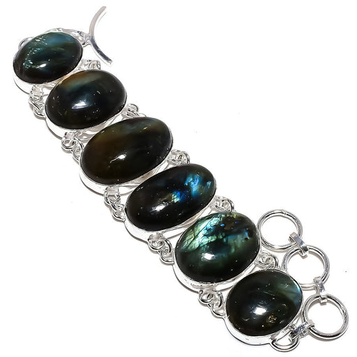 Labradorite Gemstone Handmade Jewelry Bracelet 7-8 Inches RB1063