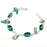 Chrome Diopside, Biwa Pearl Jewelry Bracelet 7-8 Inches RB109