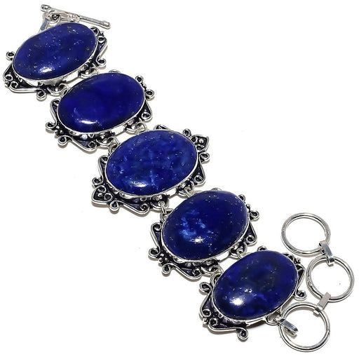 Lapis Lazuli Gemstone Handmade Jewelry Bracelet 7-8 Inches RB1100