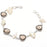 Smokey Topaz, Biwa Pearl Ethnic Jewelry Bracelet 7-8 Inches RB118