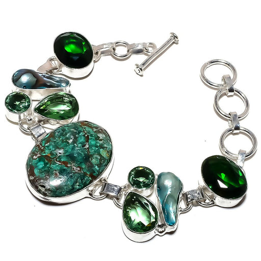 Cuprite Chrysocolla Jewelry Bracelet 7-8 Inches RB1195
