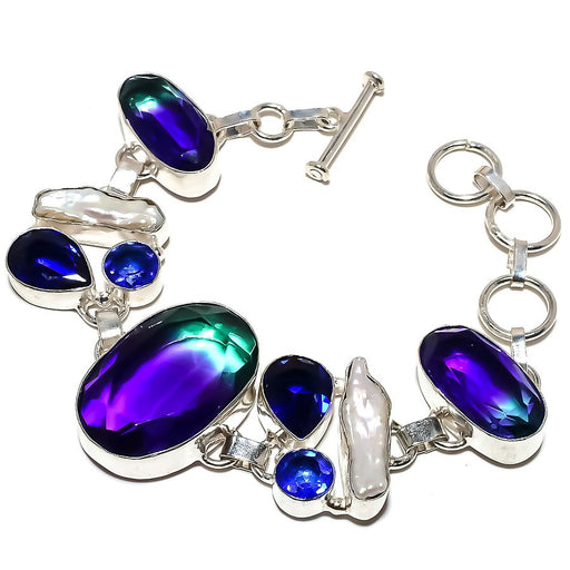 Bi-Color Tourmaline Jewelry Bracelet 7-8 Inches RB1225