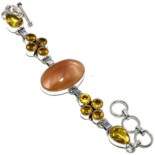 Golden Rutilated Quartz Jewelry Bracelet 7-8 Inches RB1276