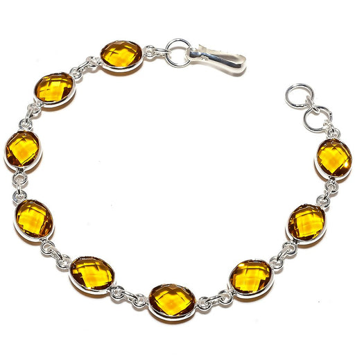 Aaa+++ Citrine Gemstone Jewelry Bracelet Adjustable RB1291