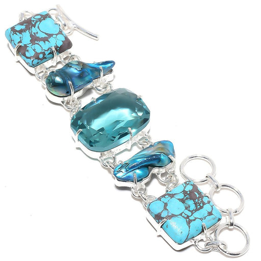 Aqua Apatite Jewelry Bracelet 7-8 Inches RB37