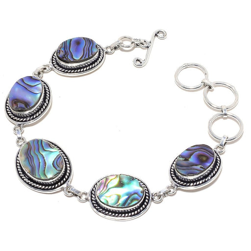 Abalone Shell Gemstone Handmade Jewelry Bracelet 7-8 Inches RB42