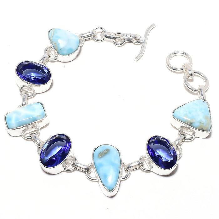 Caribbean Larimar Jewelry Bracelet 7-8 Inches RB48