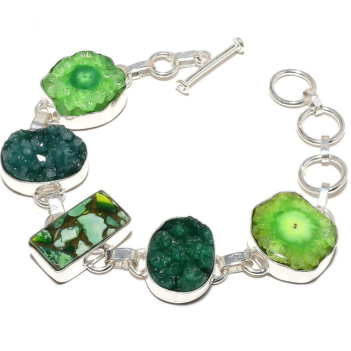 Copper Green Turquoise Jewelry Bracelet 7-8 Inches RB577