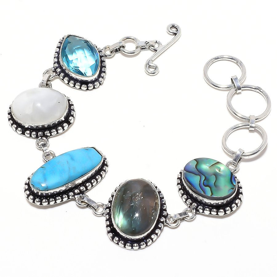 Sleeping Beauty Turquoise Jewelry Bracelet 7-8 Inches RB60