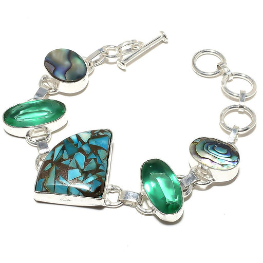 Copper Blue Turquoise Jewelry Bracelet 7-8 Inches RB624