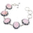 Rose Quartz Gemstone Handmade Jewelry Bracelet 7-8 Inches RB62