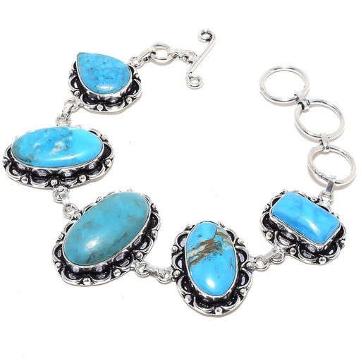 Arizona Turquoise Gemstone Ethnic Jewelry Bracelet 7-8 Inches RB75