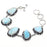 Caribbean Larimar Gemstone Ethnic Jewelry Bracelet 7-8 Inches RB76
