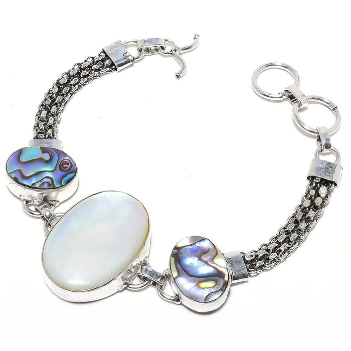 Mother Of Pearl, Abalone Shell Jewelry Bracelet 7-8 Inches RB78