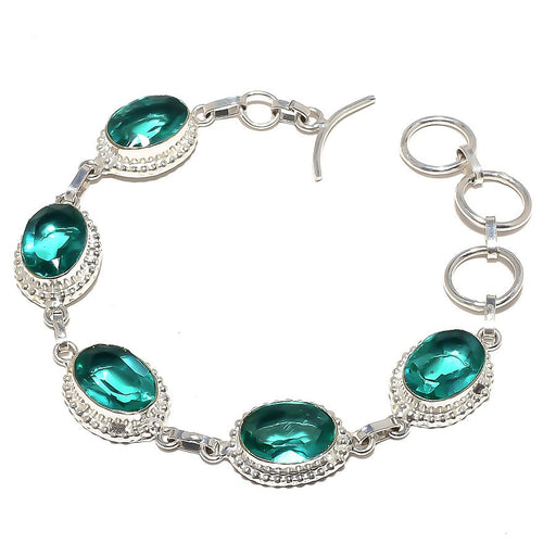 Neon Apatite Gemstone Handmade Jewelry Bracelet 7-8 Inches RB805