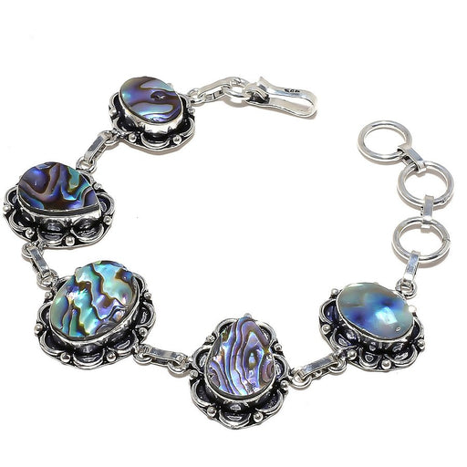 Abalone Shell Gemstone Handmade Jewelry Bracelet 7-8 Inches RB847