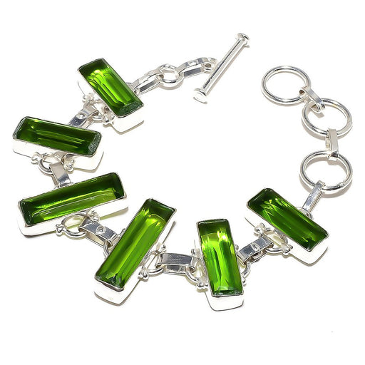 Peridot Gemstone Handmade Ethnic Jewelry Bracelet 7-8 Inches RB854