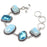 Caribbean Larimar, Blue Topaz Jewelry Bracelet 7-8 Inches RB86