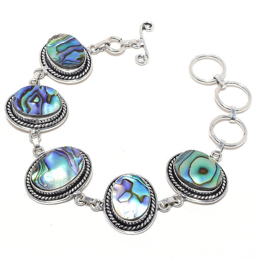 Abalone Shell Gemstone Handmade Jewelry Bracelet 7-8 Inches RB87