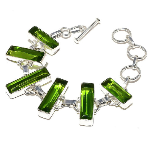 Peridot Gemstone Handmade Ethnic Jewelry Bracelet 7-8 Inches RB881