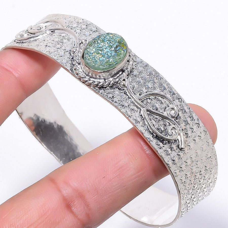 Titanium Druzy Ethnic Jewelry Cuff Bracelet Adjustable RC100