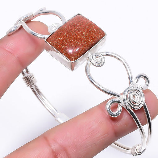 Golden Sunstone Jewelry Cuff Bracelet Adjustable RC118