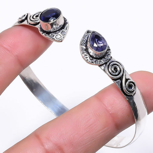 Iolite Gemstone Jewelry Cuff Bracelet Adjustable RC120