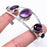 African Amethyst Jewelry Cuff Bracelet Adjustable RC123