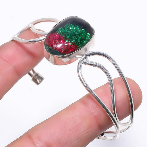 Dichroic Glass Ethnic Jewelry Cuff Bracelet Adjustable RC126